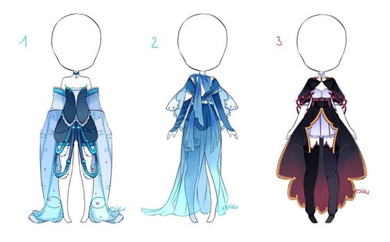 {1/3 Open} Outfits Adopt 44 - 45 - 46 by xMikuChuu