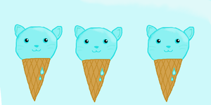 Ice-cream Cats! by cheezefreak