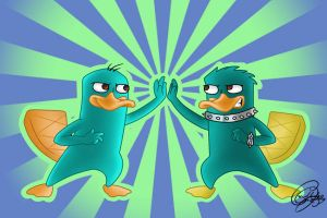 Perry y Troni by chicajamonXD