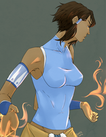 Korra post haircut by Axis33
