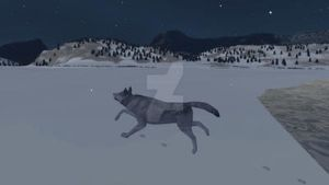 Wolfquest screenshot in the snow by XXspiritwolf2000XX