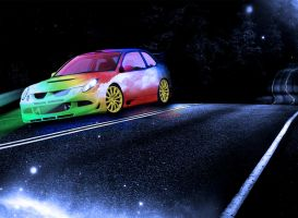 Rainbow car by Manonvr