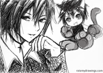ikuto and yoru by currybread