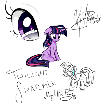 Junk Sketch - Twilight Sparkle by Glitter55555