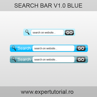 Search Bar Blue by ExperTutorial