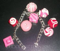pink candy bracelet request by cuddlykittenn
