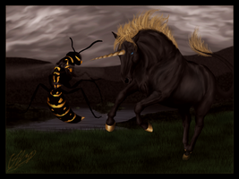 The Unicorn And The Wasp by Malcassairo