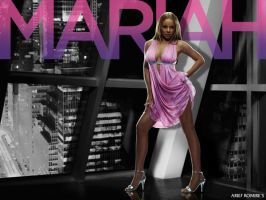 Mariah Carey pink dress by riefra