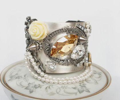 Rock'n'Roll Bride Cuff Bracelet by Aranwen