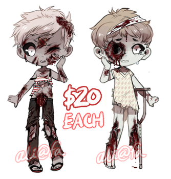 ZOMBIE ADOPTS (GORE WARNING!!) - CLOSED by alpacasovereign
