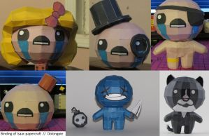 Binding of Isaac : papercraft models by OolongPie
