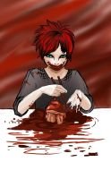 Gaara on red background by ananovik