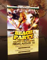 BEACH PARTY FLYER -PSD- by retinathemes