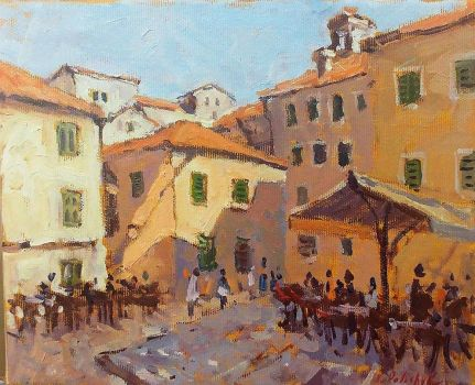 A square in Kotor by NaariaVlada