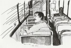 Man On Bus by sweetscissorlips