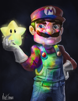 Star Power Mario by Markdotea