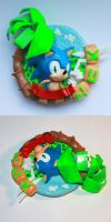 Handmade: Sonic the Hedgehog Magnet by vitav