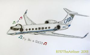 Fly like a Gulfstream G650! by B737TheAirliner