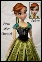 repainted ooak limited edition anna doll. by verirrtesIrrlicht
