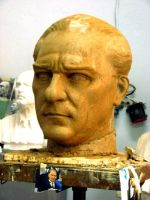 ataturk bust by sculptorandpainter
