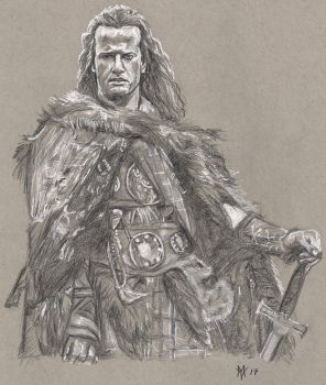 Christopher Lambert as the Highlander by Gossamer1970