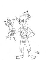 Inktober day 21 - Jak And Daxter by FG-Arcadia