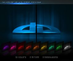 deviantART 3D Wallpaper Pack by Axertion