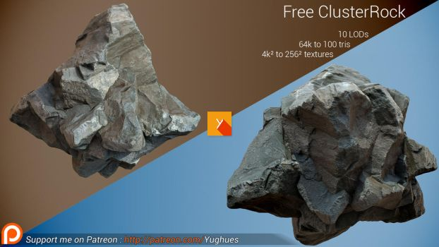 [Free] Photogrammetric Rock - Cluster by Nobiax