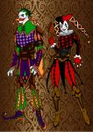 Medieval~Joker And Harley by Comicbookguy54321