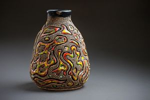 Ceramic vase with abstract pattern_1 by Tamarik7