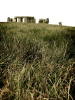 stone henge from the grass by hot-cake-joy