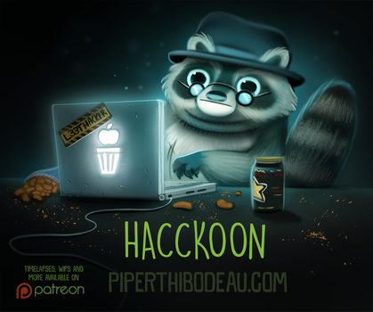 Daily Paint 1604. Hacckoon by Cryptid-Creations