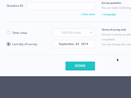 Survey Platform Design by Ramotion