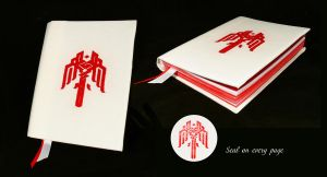 Dragon Age II white notebook by Katlinegrey