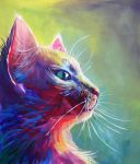 Colorful Cat 1 by San-T