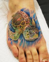 Melanie Loggerhead Sea Turtle Tattoo by joshing88