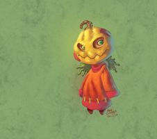 Thing-A-Day: Pumpkin Child by Cgoose