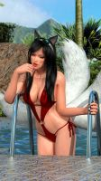 Dead or Alive - NyoTengu PoolParty Ahri Cosplay by Deluwyrn