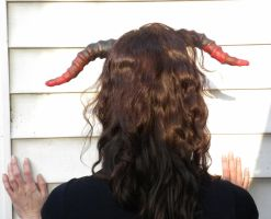 Black and Red Demon Horns _ Oonacat by oonacat