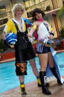 Yuna n Tidus Poolside by PasNRaine