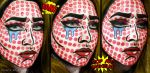 Roy Lichtenstein - Crying Girl Inspired Makeup by psychoren