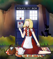 Rose Tyler and the big bad wolf by ice-cream-skies