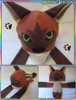 Custom Brown Tan Plushie Wolf Hat by AnimeNomNoms