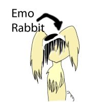 Old: Emo Rabbit by LunaticFlowerxX