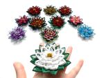 my quilling poinsettias by othewhitewizard