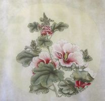 Hibiscus (rose of Sharon) by recycledrapunzel
