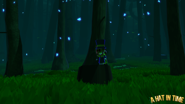 Hat Kid in the Subcon Forest by Habboi