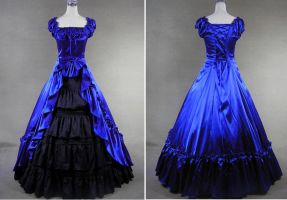 Royal Blue Victorian gown costume by weodress