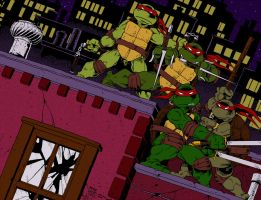 TMNT Rooftop by Icecat13