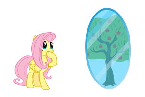 Fluttershy as Bloomberg by Angel-the-Bunny